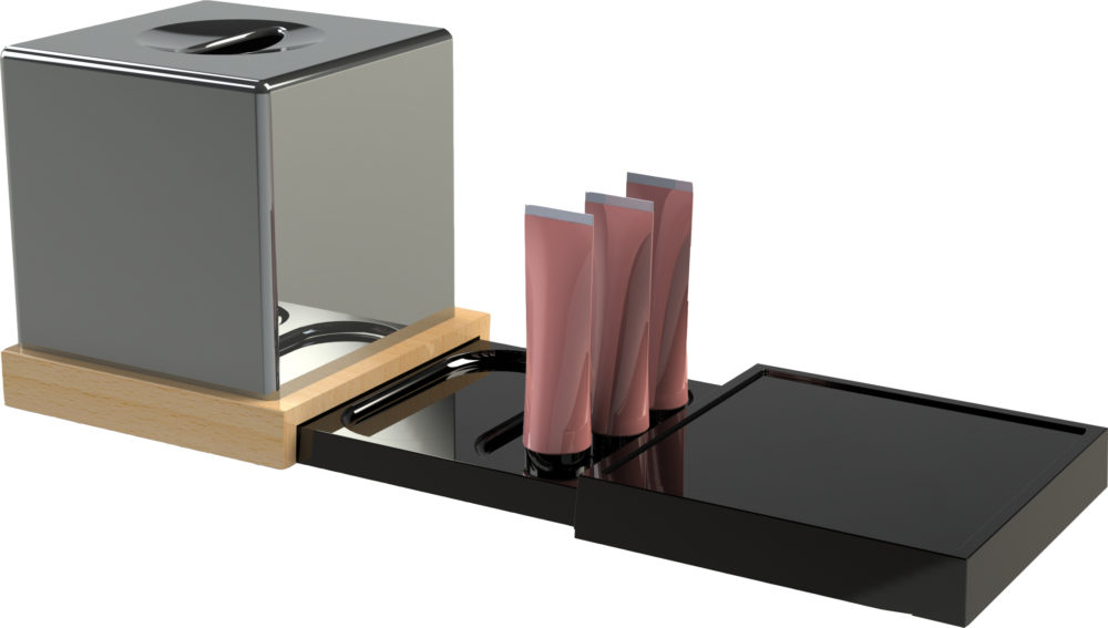 ORCHESTRO Trays bathroom black
