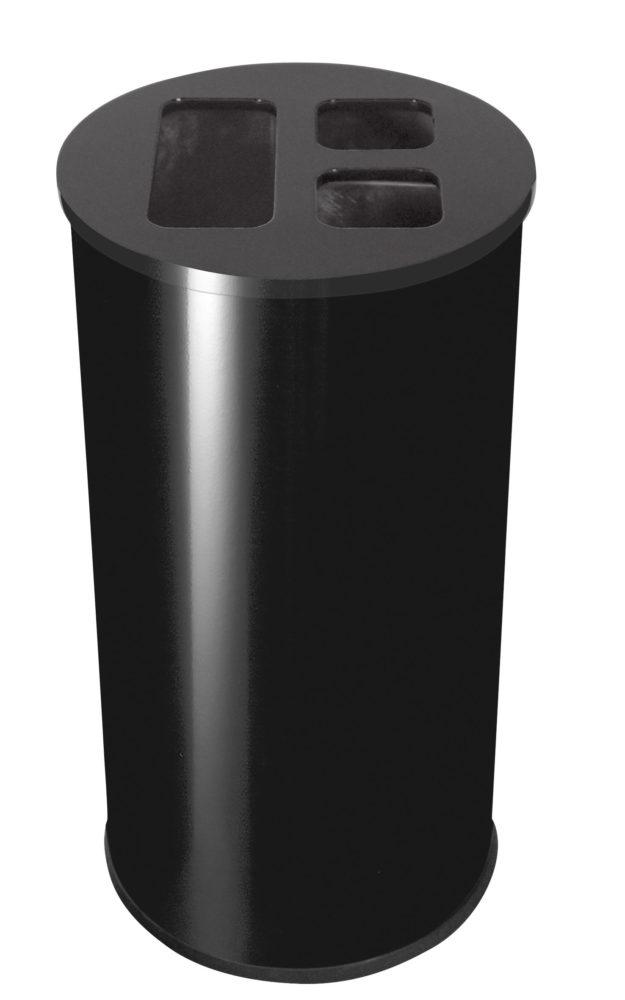 COLLECTEUR 60L noir 3 bacs