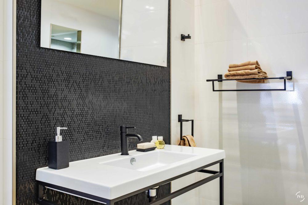 ARGO rack porte-serviettes noir mat