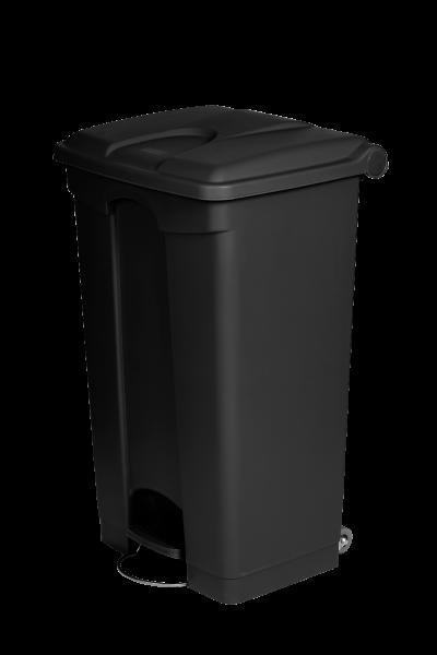 Poubelle 90L noir plastique recyclé