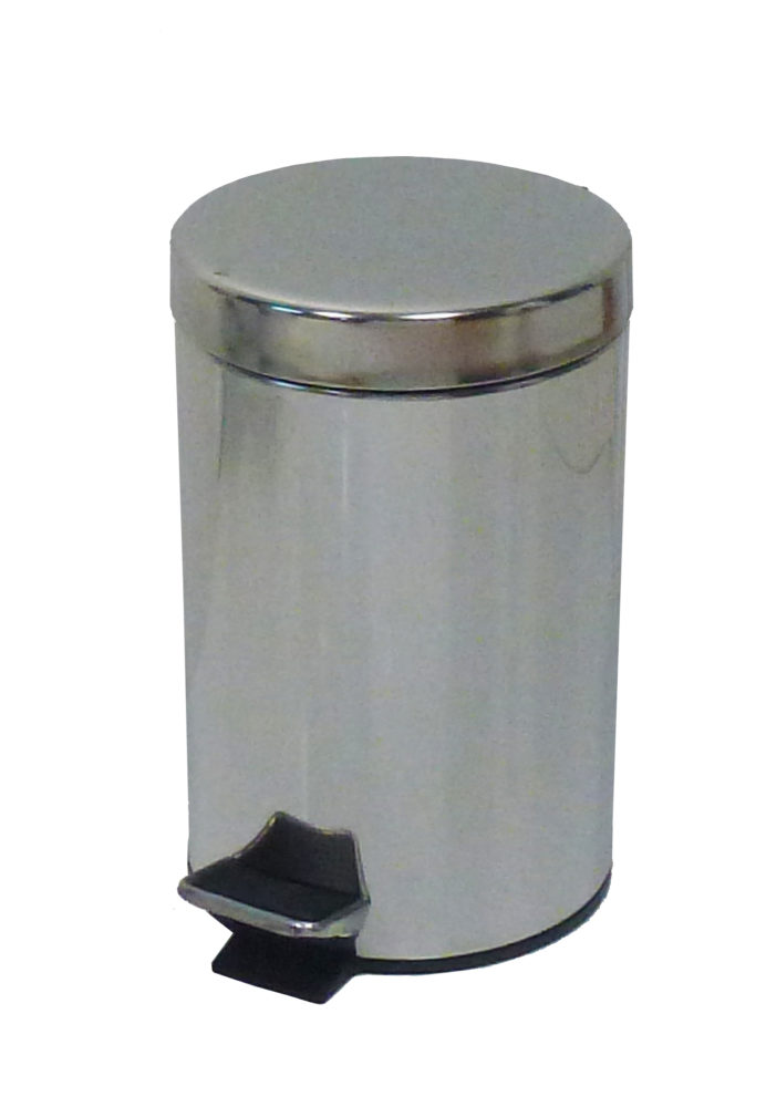 COLLECTEUR à pédale 5L inox miroir