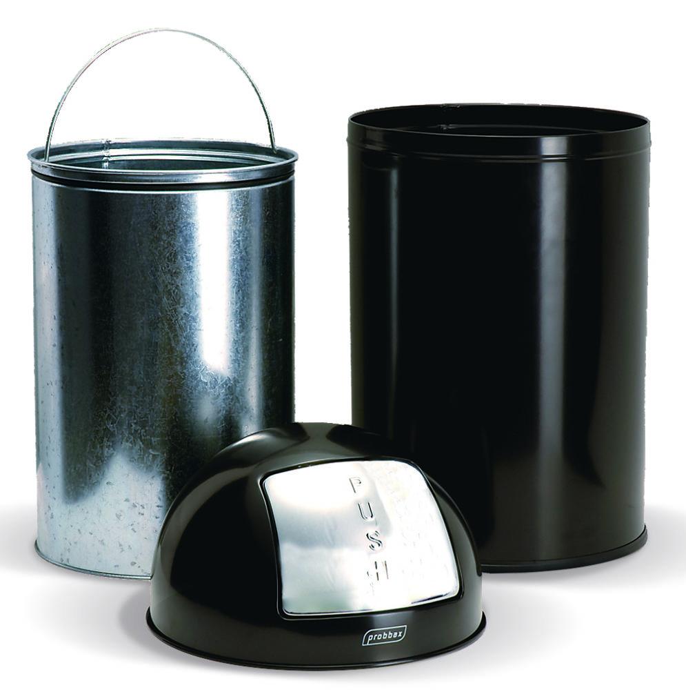 PAPELERA PUSH de acero inoxidable brillo 40L