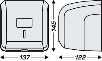 Dozownik do papieru toaletowego JVD DOZOWNIK CLEANLINE MINI DO PAPIERU TOALETOWEGO ROLKA/SKŁADKA
