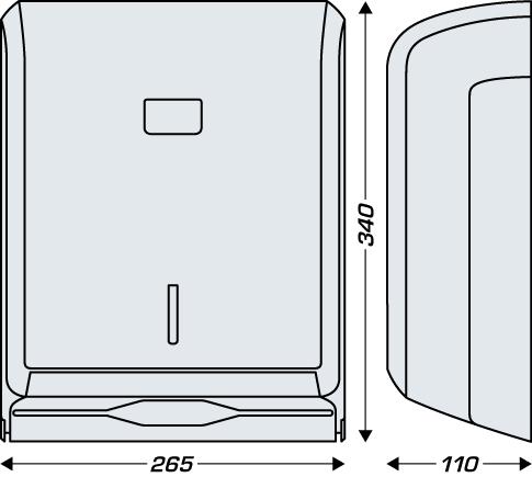 Dozownik do ręczników składanych typu Z